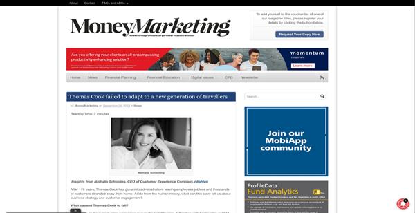 Money Marketing Article