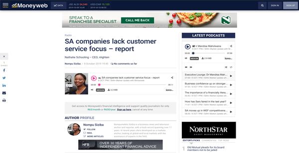 SA companies lack customer service focus – report