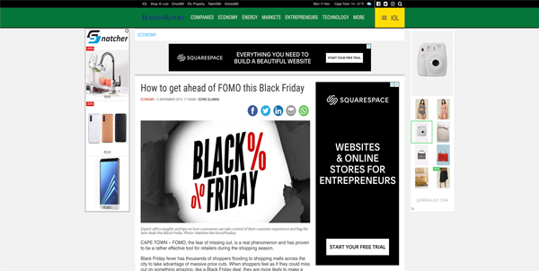 How to get ahead of FOMO this Black Friday