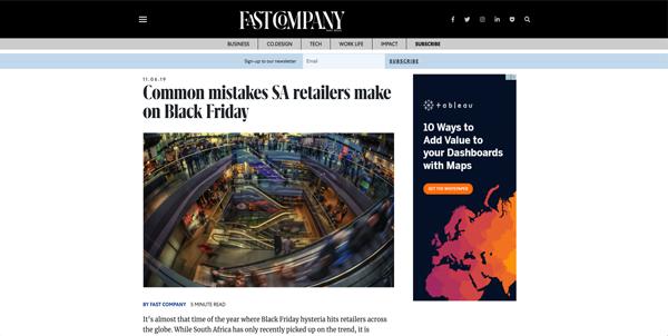 Common mistake SA retailers make on Black Friday